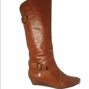 Cathy jean leather cognac boots
